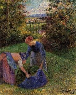 Women Gathering Grass 1883 | Camille Pissarro | oil painting