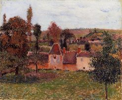 Farm at Basincourt 1884 | Camille Pissarro | oil painting