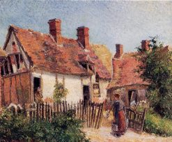 Old Houses at Eragny 1884 | Camille Pissarro | oil painting