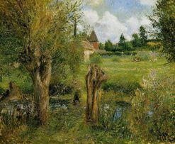 The Banks of the Epte at Eragny 1884 | Camille Pissarro | oil painting