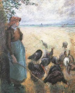Turkey Girl 1884 | Camille Pissarro | oil painting