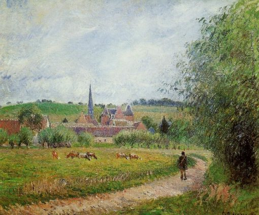 View of Eragny 1884 | Camille Pissarro | oil painting