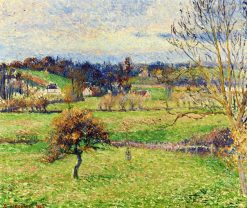 Field at Eragny 1885 | Camille Pissarro | oil painting