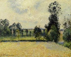 Field of Oats in Eragny 1885 | Camille Pissarro | oil painting