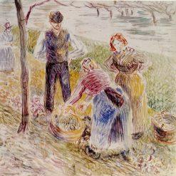 Harvesting Potatos 1884 - 1885 | Camille Pissarro | oil painting