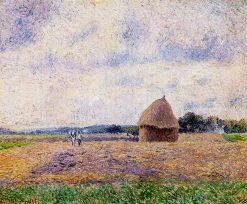Haystack Eragny 1885 | Camille Pissarro | oil painting