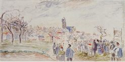 La Saint Martin a Pontoise 1884 - 1885 | Camille Pissarro | oil painting