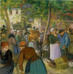 The Poultry Market 1885 | Camille Pissarro | oil painting