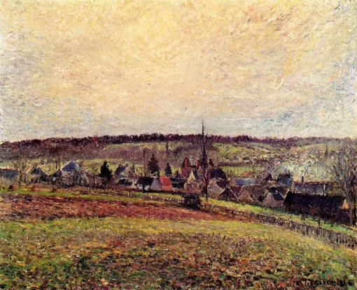 The Village of Eragny 1885   Camille Pissarro   oil painting