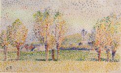 Eragny Landscape 1886 | Camille Pissarro | oil painting