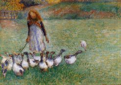 Little Goose Girl 1886 | Camille Pissarro | oil painting
