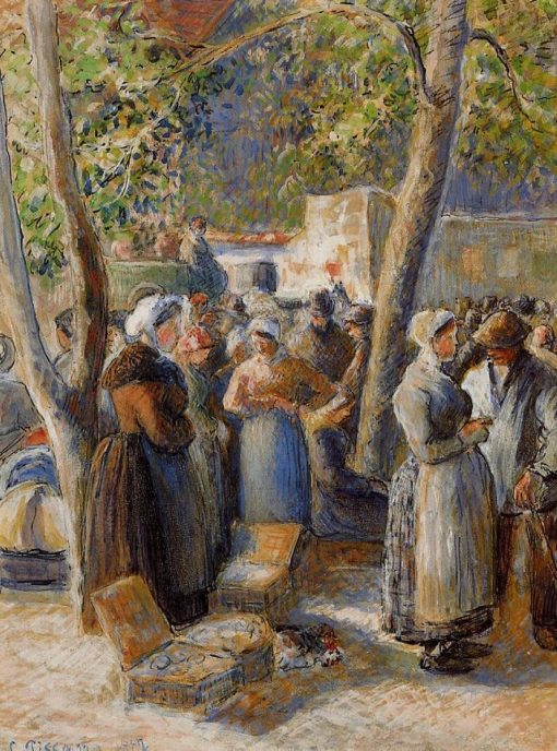 The Market in Gisors 1887 | Camille Pissarro | oil painting