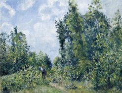 Wanderer near the Wood 1887 | Camille Pissarro | oil painting