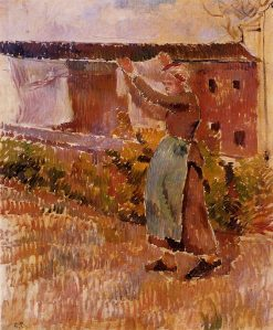 Women Tending the Laundry (study) 1887 | Camille Pissarro | oil painting