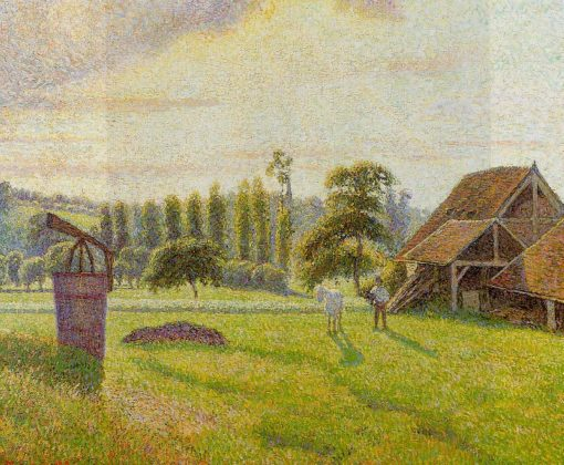 Brickworks at Eragny 1888 | Camille Pissarro | oil painting