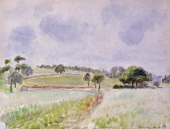 Field of Rye 1888 | Camille Pissarro | oil painting