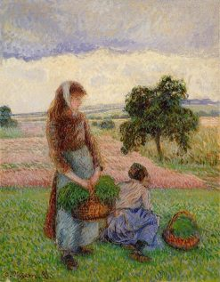 Peasant Woman Carrying a Basket 1888 | Camille Pissarro | oil painting