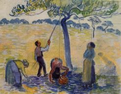 Picking Apples 1888 | Camille Pissarro | oil painting