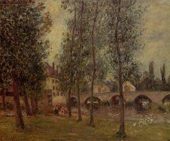 The Moret Bridge 1888 | Camille Pissarro | oil painting
