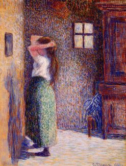 Young Peasant at Her Toilette 1888 | Camille Pissarro | oil painting