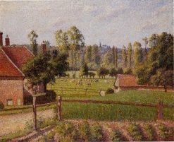 A Meadow in Eragny 1889 | Camille Pissarro | oil painting