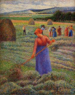 Haymakers at Eragny 1889 | Camille Pissarro | oil painting