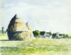 Haystacks 1889 | Camille Pissarro | oil painting