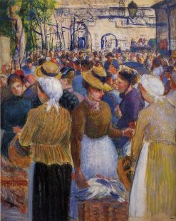 Poultry Market at Gisors 1889 | Camille Pissarro | oil painting