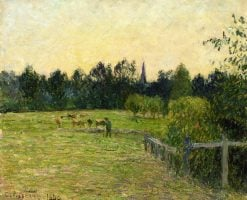 Cowherd in a Field at Eragny 1890 | Camille Pissarro | oil painting