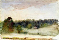 Eragny Landscape 1890 | Camille Pissarro | oil painting