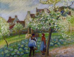 Flowering Plum Trees 1890 | Camille Pissarro | oil painting