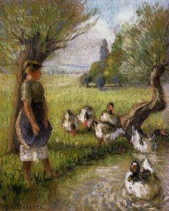 Goose Girl 1890 | Camille Pissarro | oil painting