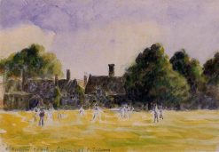 Hampton Court Green 1890 | Camille Pissarro | oil painting
