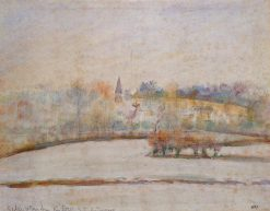 Hoarfrost 1890   Camille Pissarro   oil painting