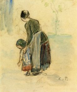 Peasant and Child 1890 | Camille Pissarro | oil painting