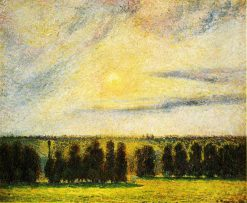 Sunset at Eragny 1890 | Camille Pissarro | oil painting