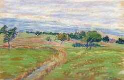 The Hills of Thierceville 1889 - 1890 | Camille Pissarro | oil painting
