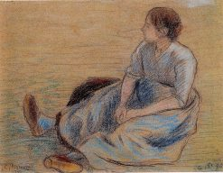 Woman Sitting on the Floor 1890 | Camille Pissarro | oil painting