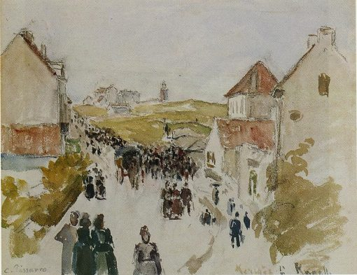 Feast Day in Knokke 1891 | Camille Pissarro | oil painting