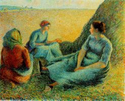 Haymakers Resting 1891 | Camille Pissarro | oil painting