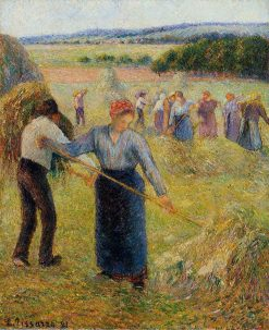 Haymaking at Eragny 1891 | Camille Pissarro | oil painting