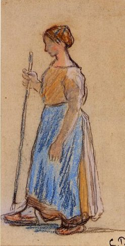 Peasant Woman 1890 - 1891 | Camille Pissarro | oil painting