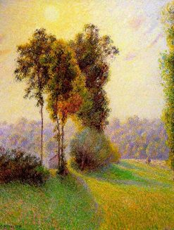 Sunset at Sent Charlez. Eragny 1891 | Camille Pissarro | oil painting