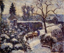 The Effect of Snow at Montfoucault 1891 | Camille Pissarro | oil painting