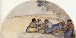 The Picnic 1891 | Camille Pissarro | oil painting