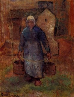 Woman with Buckets 1891 | Camille Pissarro | oil painting