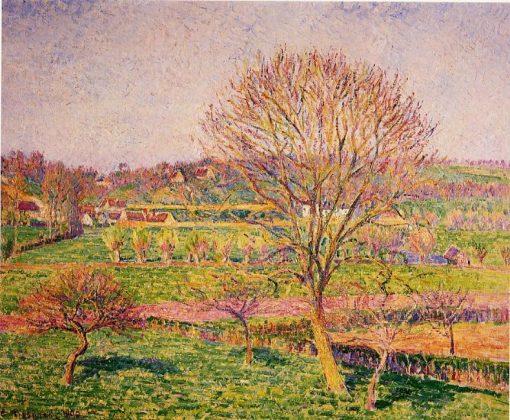Big Walnut Tree at Eragny 1892 | Camille Pissarro | oil painting