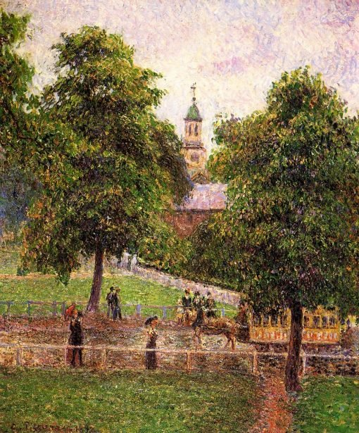 Church at Kew 1892 | Camille Pissarro | oil painting