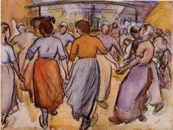 La Ronde 1892 | Camille Pissarro | oil painting