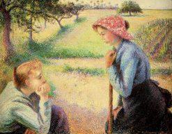 The talk 1892 | Camille Pissarro | oil painting